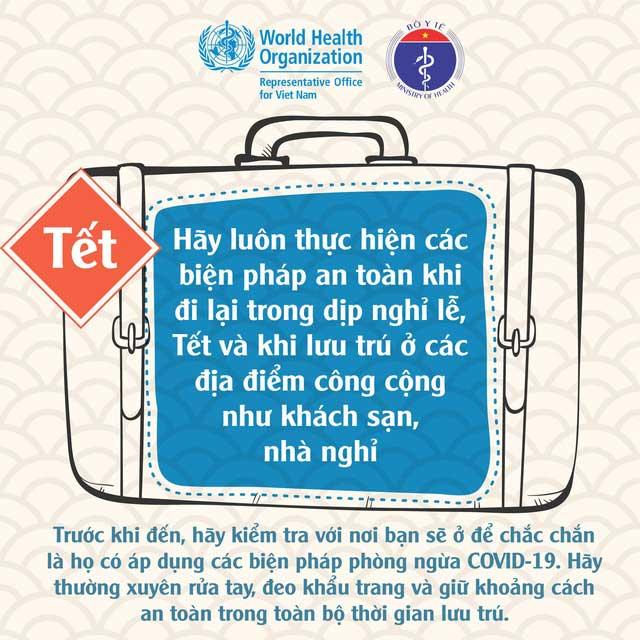 Cách đón Tết an toàn trong mùa dịch theo khuyến cáo của WHO, Bộ Y tế