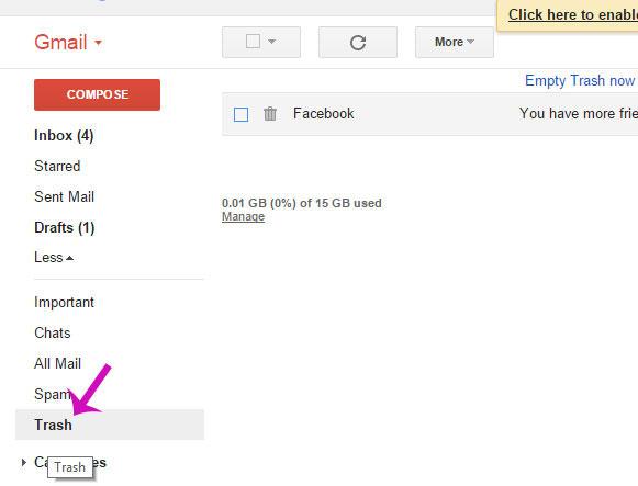 Cách phục hồi thư Gmail đã xóa chỉ trong 3 bước