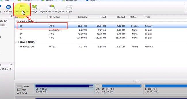 Cách tăng, mở rộng dung lượng ổ C trên Windows 10, 8, 7...