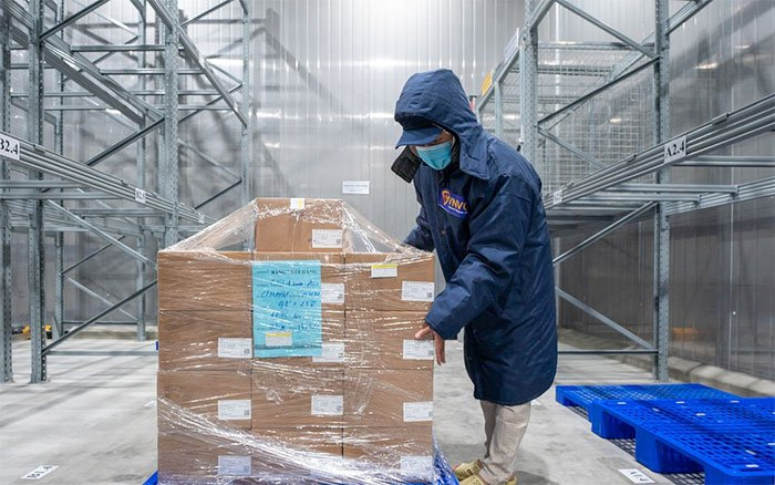 Cận cảnh các liều vaccine Covid-19 trong kho lạnh tại TP.HCM