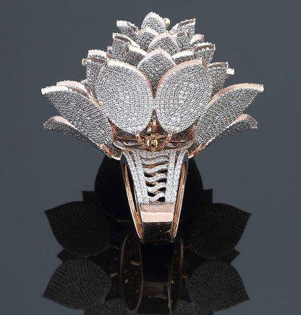 Cận cảnh chiếc nhẫn đính nhiều kim cương nhất thế giới