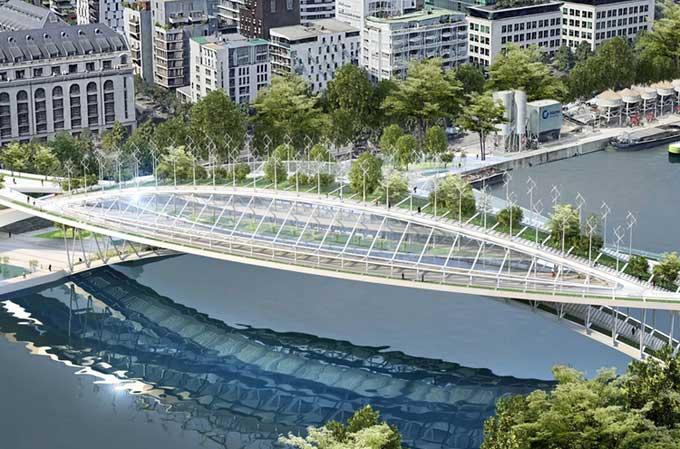 Cầu đi bộ xanh cho thu hoạch 87,5 tấn rau củ mỗi năm