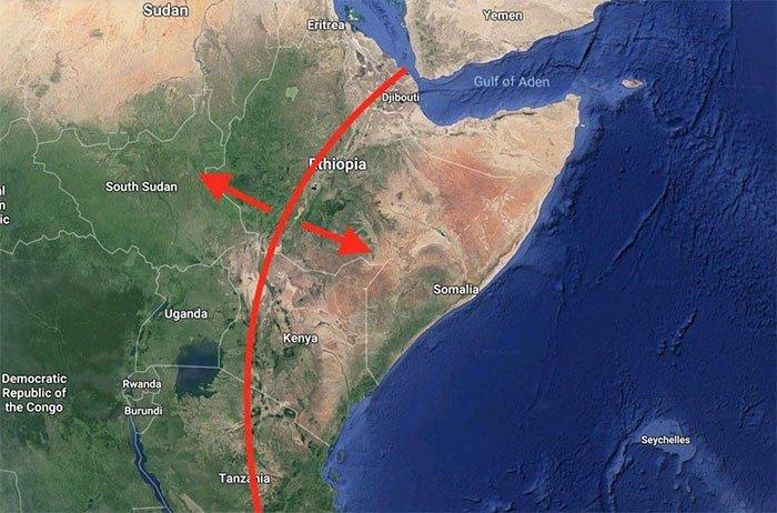 Châu Phi tách đôi, một đại dương mới đang hình thành?