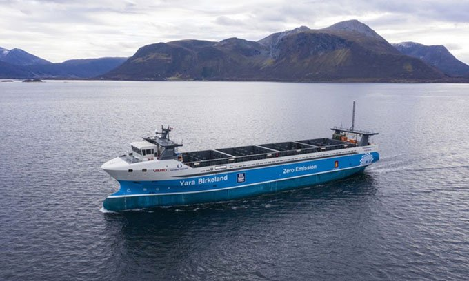 Chế tạo thành công tàu chở hàng tự động không phát thải đầu tiên trên thế giới