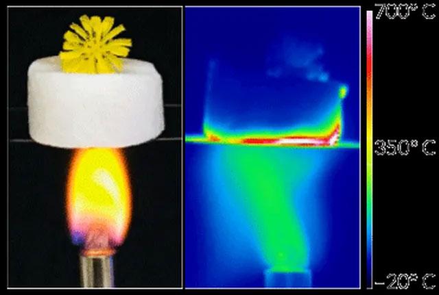 Chế tạo thành công vật liệu cách nhiệt siêu nhẹ