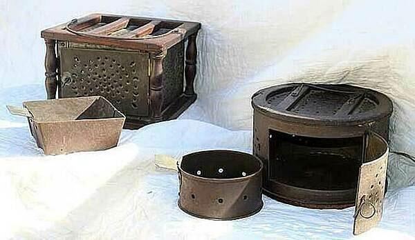 Chiếc lò sưởi chân chống lạnh đầu thế kỷ 17