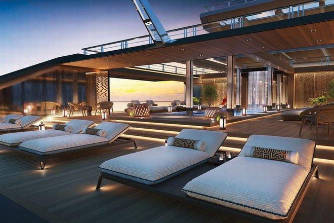 Chiêm ngưỡng du thuyền siêu sang có đủ sân vườn, hồ bơi, phòng gym và phòng VIP