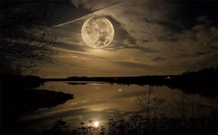 Chiêm ngưỡng hiện tượng siêu trăng tháng hai