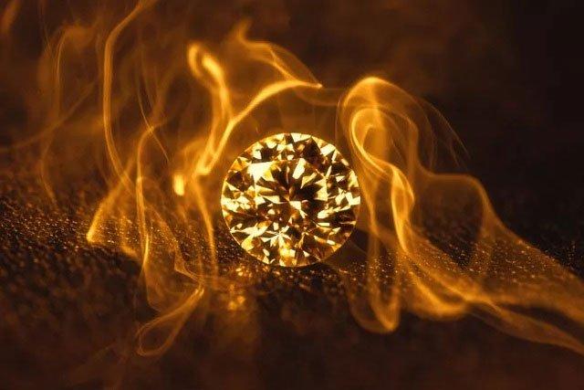 Có thể đốt cháy kim cương không?