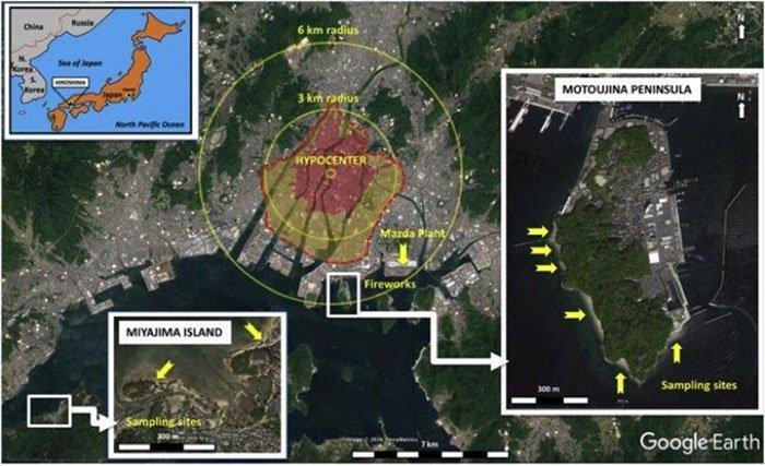 Cơn mưa thủy tinh đổ xuống bãi biển Hiroshima