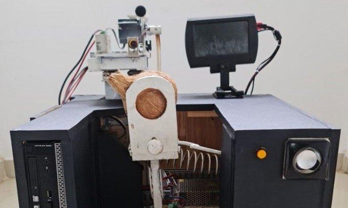 Công cụ giúp đo tỷ lệ dừa sáp bằng âm thanh