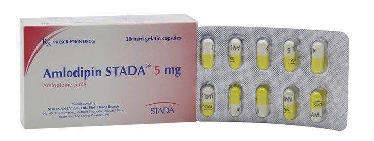 Công dụng và liều dùng của thuốc Amlodipin Stada