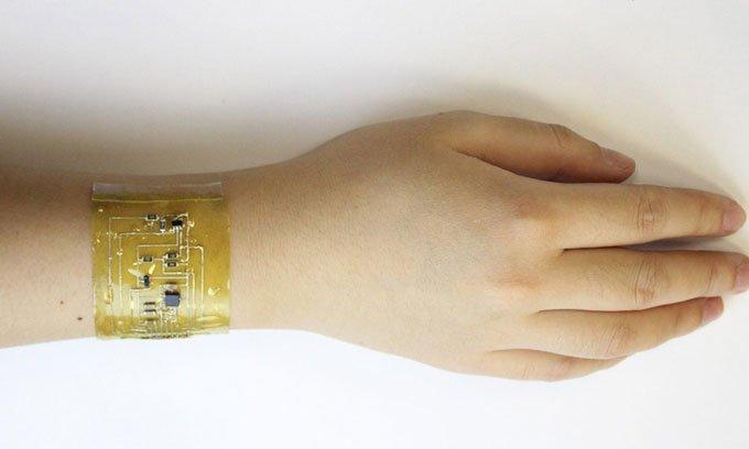 Da điện tử có thể tự vá lành và đo nhịp tim