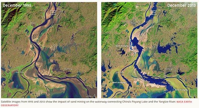 Đất cát: Tài nguyên được khai thác nhiều nhất và là nguyên nhân chính khiến lũ lụt ngày càng mạnh