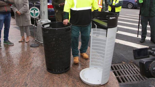 Đây là thiết kế thùng rác mới vừa được thành phố New York chọn để sử dụng trong tương lai
