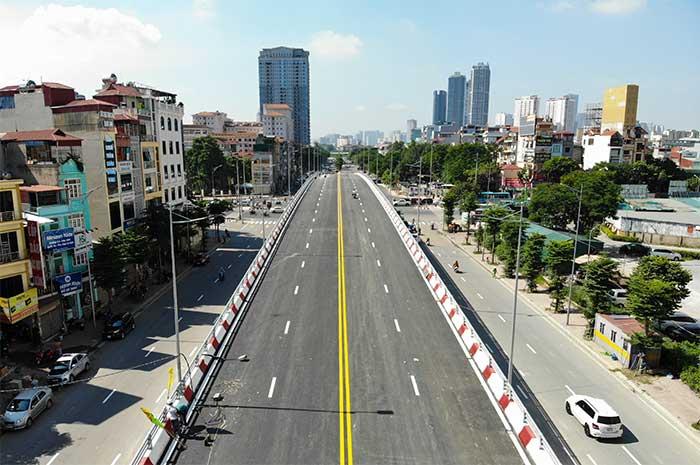 Diện mạo cây cầu vượt quy mô lớn nhất Hà Nội sẽ khánh thành vào ngày 28/8