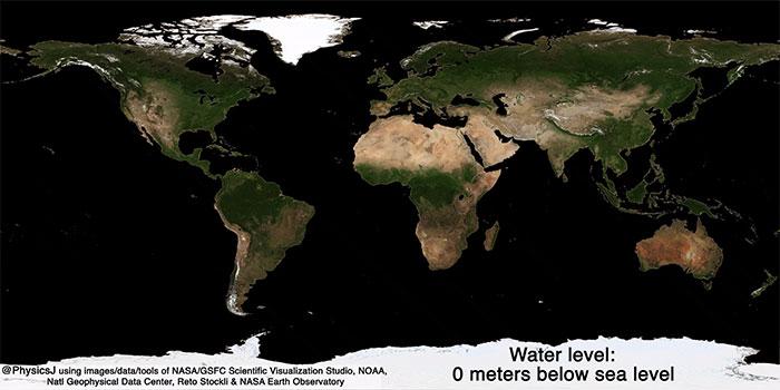 Diện mạo Trái đất khi không có đại dương bao phủ