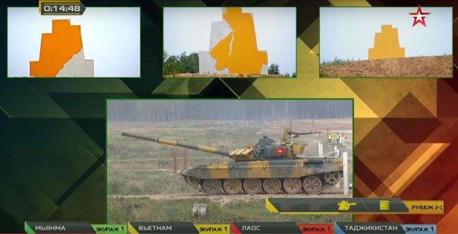 Đội xe tăng Việt Nam lần đầu vô địch bảng 2 Tank Biathlon