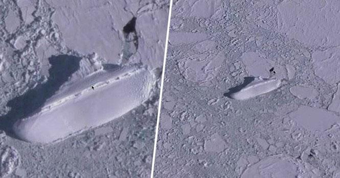 Đồn đoán kỳ lạ về con tàu băng bí ẩn ở ngoài khơi Nam Cực