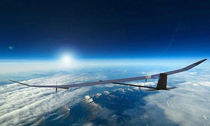 Drone năng lượng Mặt trời có thể bay cao hơn 21.000m