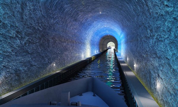 Đường hầm dài 1.700 m xuyên bán đảo cho tàu thủy