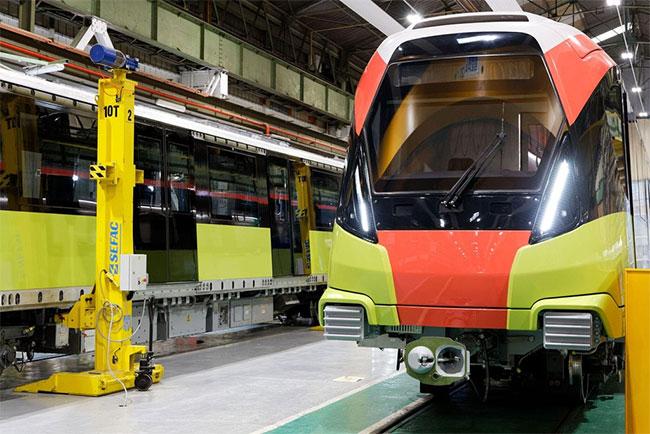 Đường sắt đô thị Nhổn-ga Hà Nội thử nghiệm đoàn tàu từ tháng 9/2020
