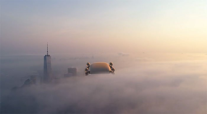 Giới thiệu mẫu xe buýt bay 40 chỗ vận tốc hơn 500km/h