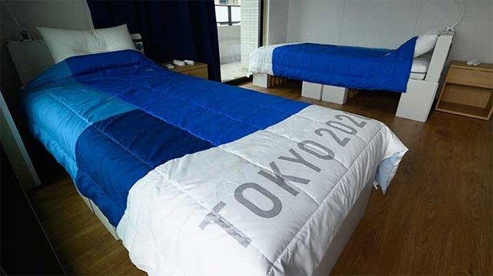 Giường chống chuyện ấy ở Olympic Tokyo chịu được trọng lượng 200kg