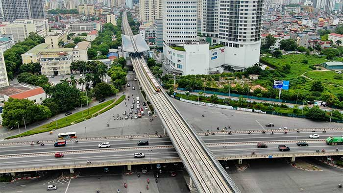 Hà Nội: Vận hành thử tuyến đường sắt trên cao đoạn Nhổn – Cầu Giấy