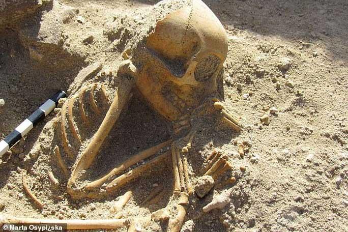 Hài cốt đứa trẻ ngủ 2.000 tuổi gây sốc vì… không phải người