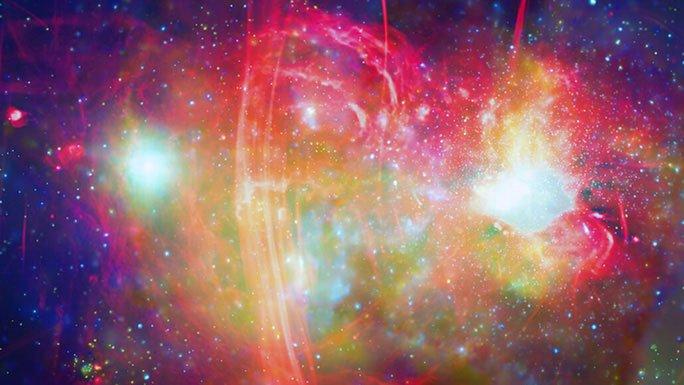 Hàng loạt thiên thể đỏ biến thành màu xanh trong quái vật chứa Trái đất