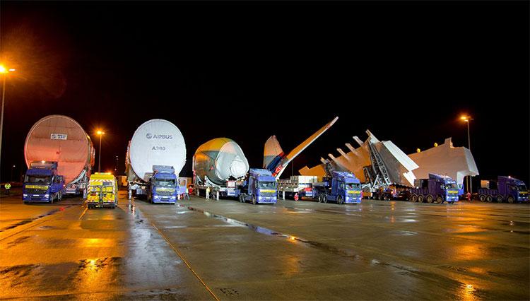 Hành trình vận chuyển các bộ phận của máy bay Airbus A380