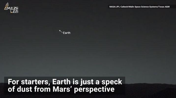 Hình ảnh Trái đất nhìn từ các hành tinh khác trong vũ trụ