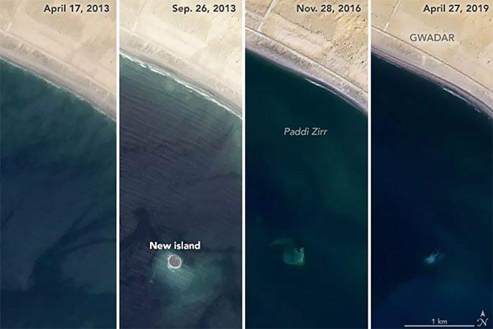 Hòn đảo bị đại dương nuốt chửng ngoài khơi Pakistan