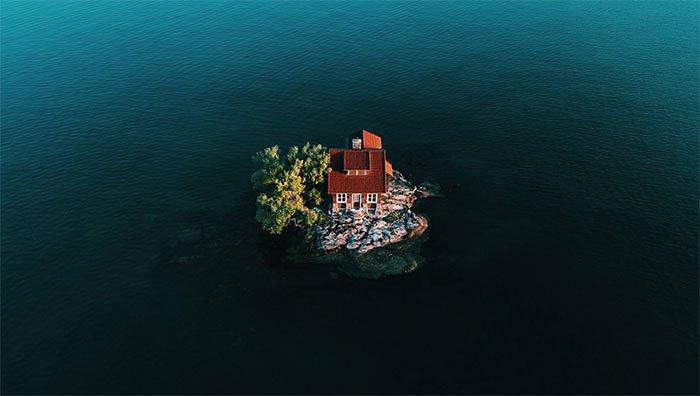 Hòn đảo nhỏ nhất thế giới có người sống