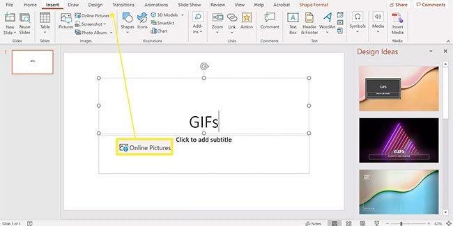 Hướng dẫn chèn ảnh GIF vào PowerPoint
