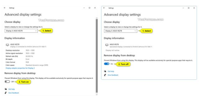 Hướng dẫn loại bỏ màn hình khỏi desktop trong Windows 10