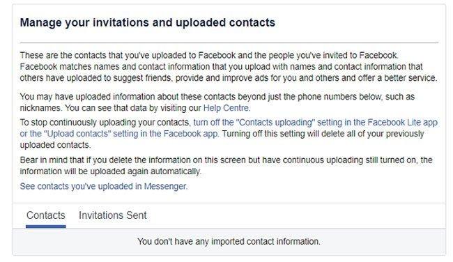Hướng dẫn upload và xóa danh bạ điện thoại trên Facebook
