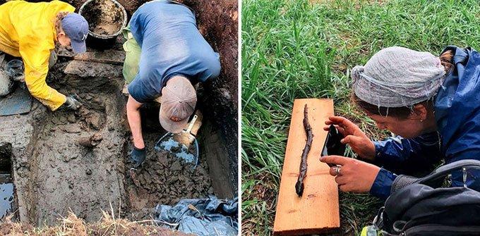 Khai quật được tượng điêu khắc rắn 4.000 năm tuổi