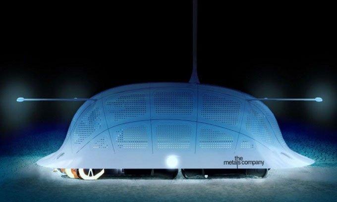 Khai thác kim loại hiếm dưới biển bằng robot hút bụi