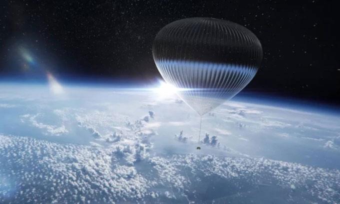 Khí cầu chở khách lên vùng cận vũ trụ