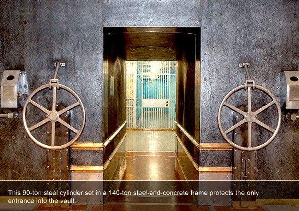 Kho chứa hơn 6.000 tấn vàng này an toàn tới nỗi mở cửa miễn phí cho mọi người vào xem