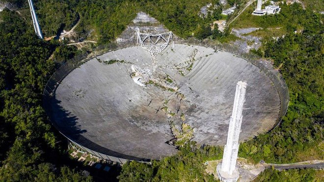 Khoảnh khắc kính viễn vọng lớn thứ 2 thế giới đổ sập