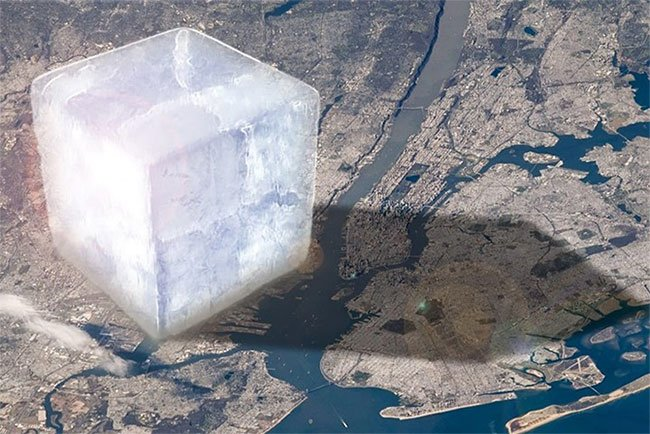 Khối băng khổng lồ này mô phỏng lại lượng băng mà Trái đất đã mất đi hàng năm