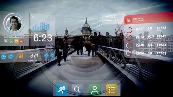 Kính áp tròng thông minh hiển thị dữ liệu, thông tin thời gian thực