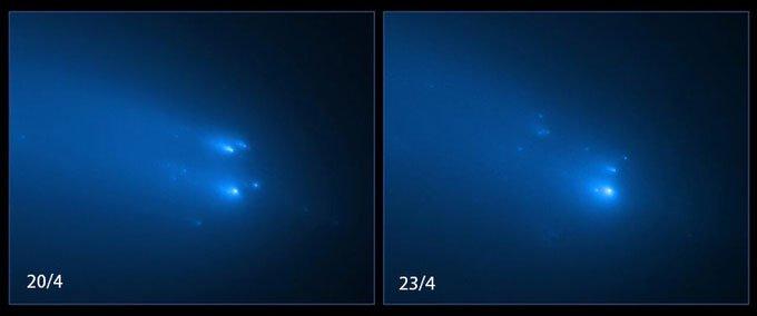 Kính viễn vọng Hubble chụp được ảnh sao chổi tan rã