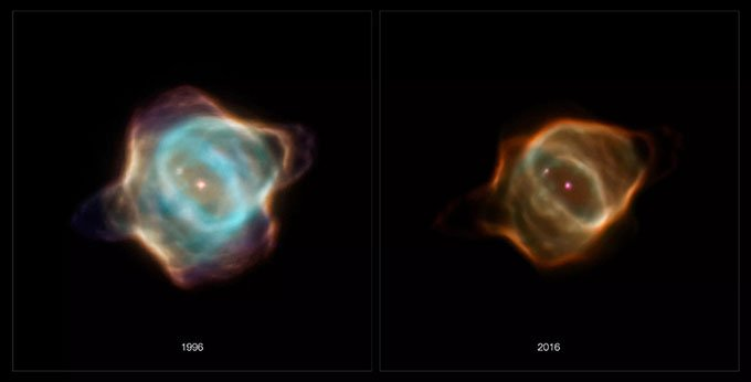 Kính viễn vọng Hubble phát hiện tinh vân cá đuối mờ đi bất thường