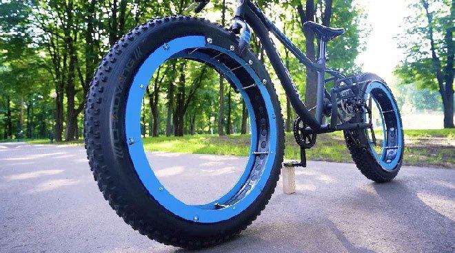 Kỹ sư thiết kế xe đạp không trục, không nan hoa mà vẫn chạy tốt