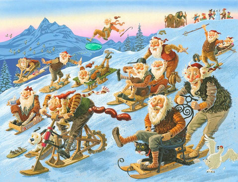 Lạ lùng đất nước có tới 13 ông già Noel