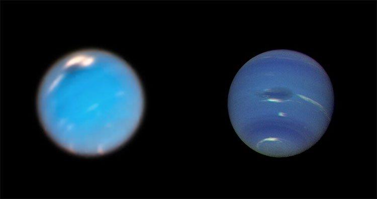 Lần đầu tiên ghi được hình ảnh hình thành bão khổng lồ trên sao Hải vương